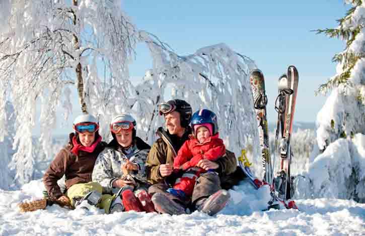 Vintersport, Säfsen Dalarna.